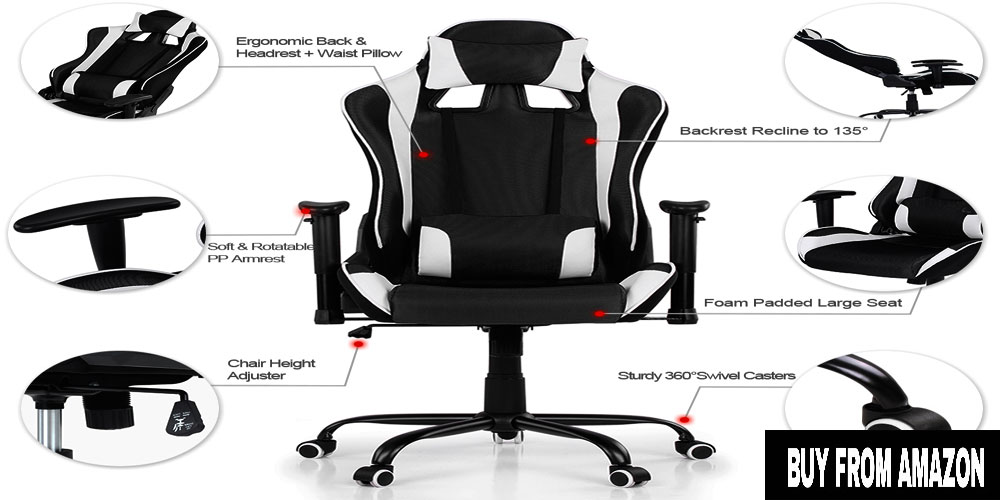 Ergonomic Design Racing Chair – Best Console Gaming Chair