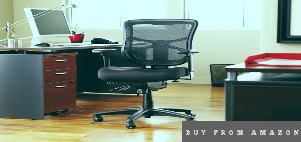 Alera Elusion Series Mesh Mid-Back Swivel Chair