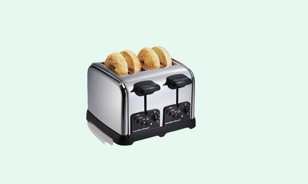 Best Classic Chrome 4 Slice Extra Wide Slot Toaster