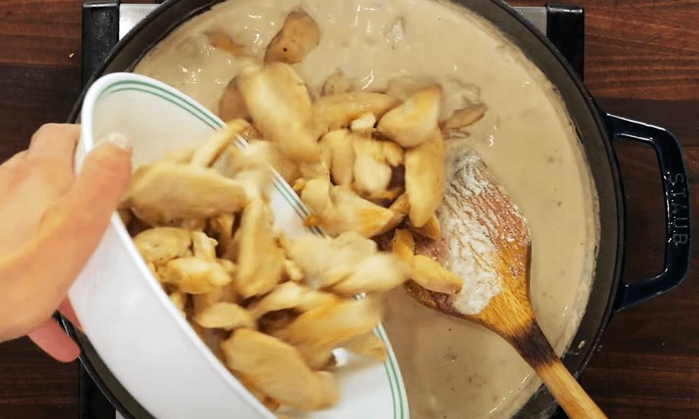 Add to fried chicken