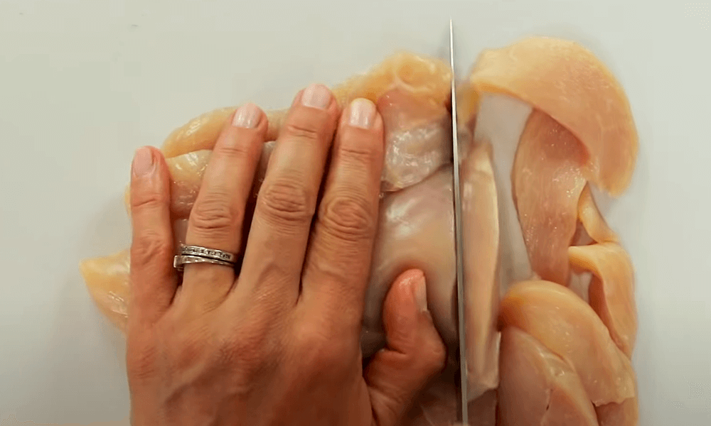 Sliced Two Pounds Of Chicken Breasts