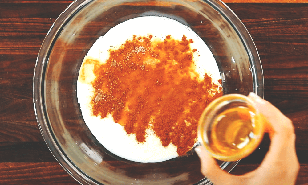 adding one tablespoon of warm honey