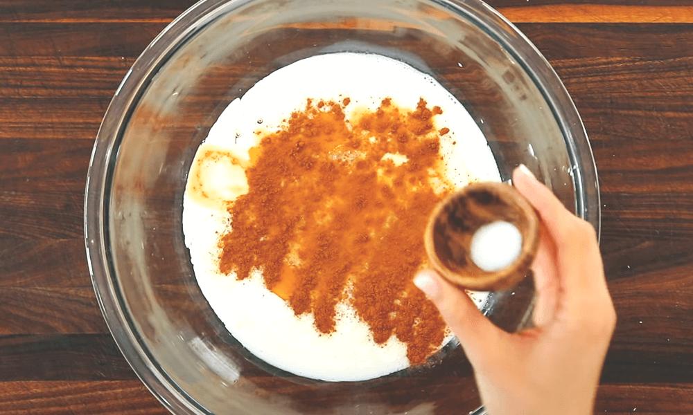 one teaspoon of cinnamon and ¼ teaspoon of salt