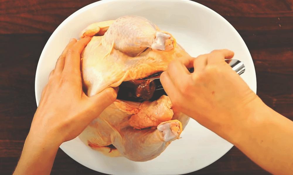 remove the chicken gravy with neck